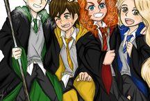 The Big Six. / Elsa, Anna, Merida, Rapunzel, Jack Frost, Hiccup.