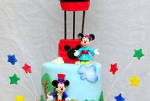 Mickey and Minnie Mouse Cakes.