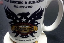 Printing on Mugs & Coasters / High quality printing on Mugs & Coasters. Wholesale Pricing. High volume print-shop providing you with Sublimation Printing and a variety of the latest Printing techniques.  / by American Printhouse - Wholesale Screen Printers