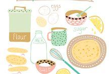 Illustrator pancakes