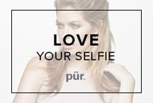 """Love Your Selfie / Let's take a selfie! Our exclusive """"Love Your Selfie"""" best sellers kit is filled everything you need to get that natural, picture-perfect look in a flash. Included are eight limited edition eye shadow shades, our #1 selling lip gloss and mascara and our top selling powders to bronze, blush, and illuminate your way to your selfie. #PURselfie / by Pür Minerals"""