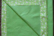 self binding receiving blanket