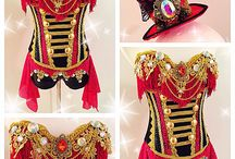 Carnaval mars rood zwart