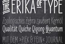 fonts & type