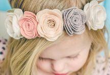 Vintage flowers head band