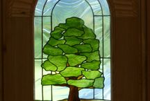 Windows with heart / Beautiful stain glass