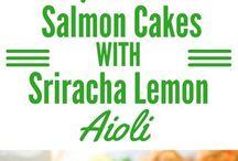 Dinner salmon cakes