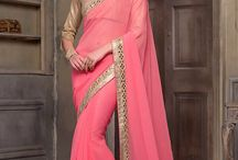 Stunning Designer Mirror Work Blouse Sarees Collection