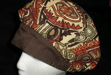 Banded Bouffants / These hats are made in the bouffant style.The band in the center front is approximately 2 inches wide. The back has elastic for a comfortable fit.