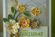 Cartes d'anniversaire faites à la main