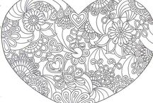 Coloriage  coeur  / colouring heart / https://www.facebook.com/Les-colos-de-kiki-780034588779254/