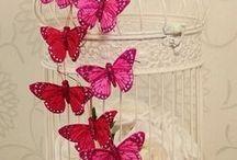 jaulas con mariposas