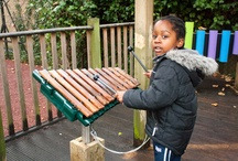 Children & Music / Unique custom-made outdoor musical instruments, pentatonic scaled to produce pure, melodic soothing tones.