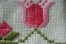 bordado ponto reto (tulipa)