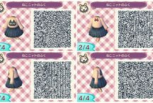 Qr code robe chat acnl kawaii