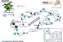 Cycle tourism route BASOAK / Maps, profiles and route sheets of the 4 days cycle tourism route BASOAK. Mapas, perfiles y hojas de ruta de la ruta de cicloturismo de 4 días BASOAK