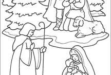 KIFESTŐK (téli ünnepek) - COLORINGS (wintry holiday)