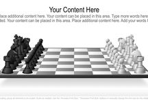 Chess Pieces Graphics / Editable PowerPoint chess graphics that can be used as a metaphor for strategy or planning.