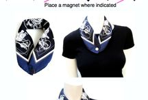 Sophisticated Scarves / Array of different scarves and how to tie
