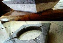 mis proyectos / trabajos y creaciones propias de piedra volcánica natural y artificial.