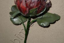 Deri Çiçek Yapımı --leather flower production