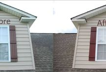 Before and After Vinyl Shutter Pictures by Homeowners / A small collection of real world vinyl shutter images and comments from U.S. homeowners who used Shutter Renu on their shutter and renewed them.