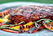 dinnertime - pork, turkey, beef