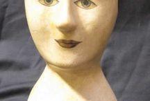 Marotte millinery heads