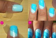Hair, make up, nails / As above