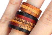 Wooden Ring / This ring was originally intended as a wedding band, I suppose that is why we get requests from men and women alike. Our carpenter friend, in his workshop in Sicily, combined these beautiful types of wood, from Africa, North and South Europe. It is the only kind of ring I wear, because its surface is velvety and warm, and its colors remind me of places I love.