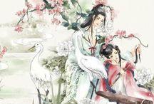 Китайские, корейские, японские мотивы, мифы, герои
