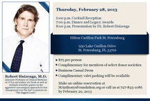 Legacy Dinner / The St. Anthony's Foundation annual Legacy Dinner will be held Thursday, February 28th at the Hilton St. Petersburg at Carillon Park. Join Dr. #Huizenga from #NBC #TheBiggestLoser as he presents information on non-surgical approaches to #weight loss.
