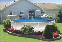 Pool Fool / Making an inexpensive above ground pool look like a mini retreat.