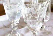 Elegant Dining / Crystal, Silver, Pewter, Ironstone, Transferware, Depression Glass.  Essentuals for an Elegant Table Setting