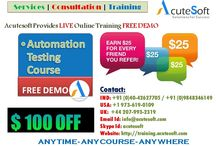 Automation testing Online Training by AcuteSoft with 10+ years SMEs.