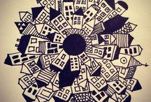 svart/kvit tegning