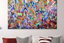 Expressionistic, Gestural, Action Paintings by Nestor Toro / Expressive contemporary gestural abstractions with vivid colors, vibrant and action paintings. www.NestorToro.com