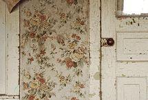 Beautiful Walls / painted walls and decaying wallpaper