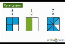 COMMON CORE MATH FRACTIONS / This is the place to get Common Core Math activities, resources and videos for grades 3-5 to use in your classroom!