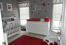 Red baby girl nursery / Ideas for nursery