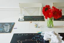 chalkboard place mats / by leslie friend