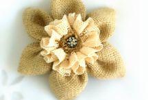 Burlap -jute / Burlap flower