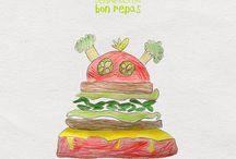 Dessin-Moi Un Bon Repas / Avec Dessine-Moi Un Bon Repas, nous transformons des dessins culinaires d'enfants en bons petits plats de saison pour sensibiliser les plus jeunes à la nutrition, la saisonnalité et le goût des bons produits :). #ProducteurCommerçant