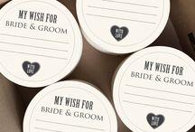 Wedding things / Ideeën voor je bruiloft . Persoonlijk en op maat gemaakt.