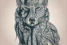 idee tatouage loup