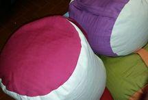 Cuscini fatti a mano e studio / Cuscini da meditazione h23 cm diametro 32cm