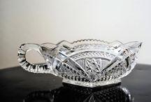 Vintage Clear Glassware - TeamVintageUSA / Pin CLEAR Glassware here.  TeamVintageUSA