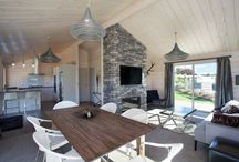 Lockwood show home The Stewart in Taupo / Stunning small home with stone fireplace detail, great kitchen and extended main bedroom with walk-in-cupboard.