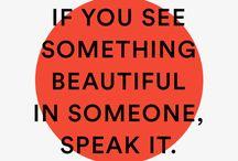 Words That Speak Beauty / Affirmations of love. Speak beauty and live happier. www.cardealuxe.com