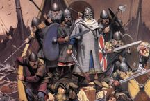 """""""Cry 'Havoc!' / ... and let slip the dogs of war"""" - those of Antiquity and the Middle Ages, as rendered by Angus McBride and others."""